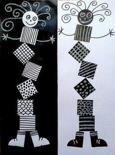 Ideas For Geometric Line Art Math School Art Projects, Art School, 2nd Grade Art, Ecole Art, Kindergarten Art, Art Lessons Elementary, Elements Of Art, Art Classroom, Art Plastique