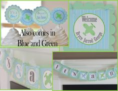 12 Vintage Airplane Themed Baby Shower by DreamPartyPaperie, $12.00