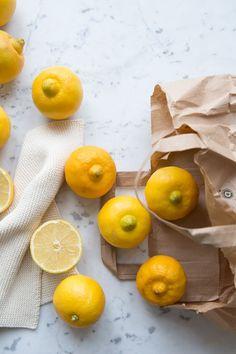Bergamot fruits :: Photographed and styled by Sonja Dahlgren Lemon Dessert Recipes, Lemon Recipes, Photo Food, Yellow Foods, Fruit Photography, Food Wallpaper, Food Backgrounds, Food Design, Fruits And Vegetables