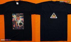 Merlin Herren T-Shirt UV Psy Trance Schwarzlicht Glow-in-the-Dark