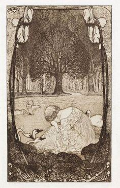 Heinrich Vogeler Die sieben Schwäne 1898.jpg