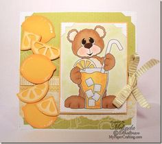 DCWV Die Cuts With A View Fresh Floral Stack papers and PCW Digi stamp and SVG cut files. Details: http://www.mypapercrafting.com/2013/07/water-bottle-treat-holder-svg-template.html