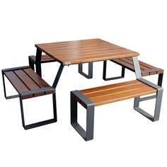 Table pique-nique Marina  Très belle table pique-nique extérieure pratique et originale