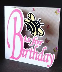 Birthday Bee Card on Craftsuprint - View Now!