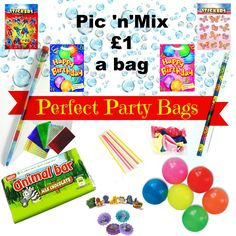 Pic 'n' Mix £1 a Bag is the Perfect Party Bag for you if you are on a budget. Get a Giant bag with 5 items included