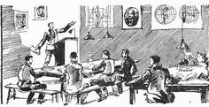 An Esperanto class for workers, From Esperanto dlia rabochikh:  uchebnik dlia kruzhkov i samoobrazovaniia (Moscow, 1930), p. 56. - See more at: http://britishlibrary.typepad.co.uk/european/#sthash.U0mztPnN.dpuf