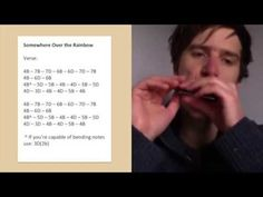 How to play 'Somewhere Over the Rainbow' on harmonica (Judy Garland in the Wizard of Oz) - YouTube