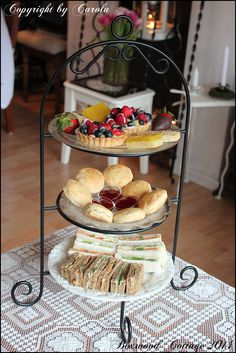 Tea sandwiches and goodies