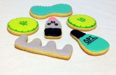 Spa day themed cookies.