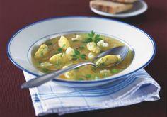 Jarní zeleninová polévka se sýrovými nočky   Apetitonline.cz Soup, Ethnic Recipes, Soups