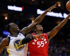 285abd89f Golden State Warriors  Draymond Green (23) defends against Toronto Raptors  Delon  Wright
