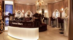 Nulty - Charlotte Tilbury, Westfield London - Makeup Stations Illuminated Mirrors Beauty Counter Lighting