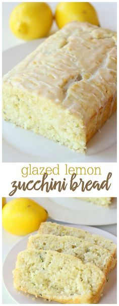 Delicious Glazed Lemon Zucchini Bread - this recipe is amazing. So soft and so flavorful! Get the recipe on {Delicious Glazed Lemon Zucchini Bread - this recipe is amazing. So soft and so flavorful! Get the recipe on {lilluna} Glazed Lemon Zucchini Bread Recipe, Zucchini Bread Recipes, Zuchinni Lemon Bread, Healthy Zucchini Bread, Lemon Zucchini Muffins, Recipe Zucchini, Bake Zucchini, Köstliche Desserts, Delicious Desserts