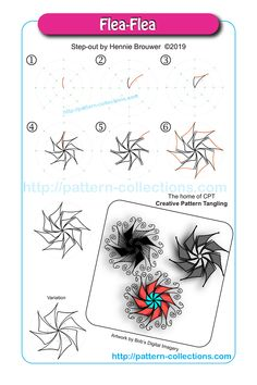 News, new patterns, videos, and template of the week – pattern-collections.com Henna Drawings, Abstract Drawings, Easy Drawings, Flower Drawings, Zentangle Drawings, Doodle Patterns, Zentangle Patterns, Zentangles, Blackwork