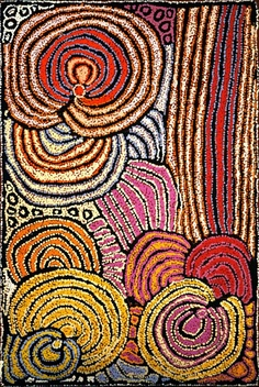 """Lupul"", by Walangkura Napanangka. Australian Aboriginal art. Acrylic on canvas, 2007."