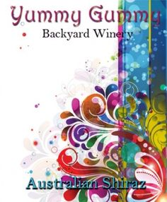 A colorfully modern design on this custom wine label from Noontime Labels.