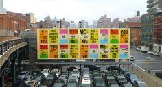 Allen Ruppersberg's High Line billboard  #NYCxDESIGN  via @Patrick_Myles