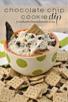 Use a graham cracker, a spoon or your finger to enjoy this amazing Chocolate Chip Cookie Dough Dip. As a party dish or a dessert, this chocolate chip cookie dip will be a hit with everyone. Cookie Dough Dip, Chocolate Chip Cookie Dough, Chocolate Chips, Chocolate Dipped, Dessert Dips, Dessert Recipes, Appetizer Dessert, Sweet Recipes, Healthy Recipes