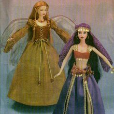 Simplicity 4696 Barbie Fashion Doll Renaissance Angel / Fairy / Belly Dancer Doll Clothes Sewing Pattern by pattern gate Barbie Sewing Patterns, Sewing Dolls, Simplicity Sewing Patterns, Doll Clothes Patterns, Clothing Patterns, Doll Patterns, Crochet Patterns, Barbie Mode, Angel Dress