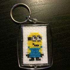 #keychain #cross #stitch #minion