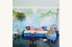 wall map. Playroom!