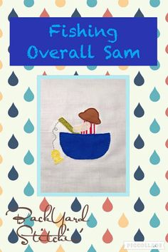 ITH Fishing Overall Sam DIGITAL Embroidery by BackYardStitchin
