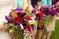 Bridal party flowers by Blossom Sweet.