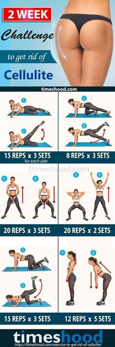 Belly Fat Workout - How to get rid of cellulite on buttocks and thighs fast? 6 Exercise, 14 day challenge Cellulite workout at home. 20-minute workout routine to get rid of cellulite and get firm legs, and smooth thighs. Best exercise to get rid cellulite