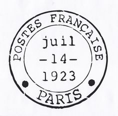 Paris French Vintage Style Painting Stencil Postmark Stamp