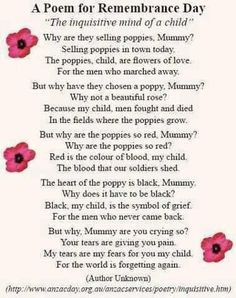Give a moment to remember all those who fourght or gave there lives for us. it may not be remembrance day but if your reading this stop and give a moment to remember them! Remembrance Day Poems, Remembrance Day Activities, Memorial Day Poem, Memorial Day Poppies, A Moment To Remember, Kids Poems, Anzac Day, Veterans Day, Cards