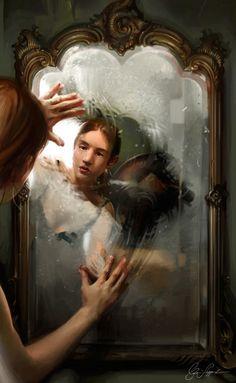 Illustrations by cynthia sheppard mirror art, mirror image, mirror painting, figurative art, Mirror Painting, Mirror Art, Mirror Image, Mirrors, Reflection Art, Wow Art, Expo, Figurative Art, Art Inspo