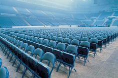 Our Audience Seating range at Sheffield Arena, Blue, Entertainment, Stadium, Furniture, Folding Seating, Interior, Design, Decor.