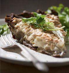Savory Vegan Onion, Apple and Buckwheat Tart Recipe