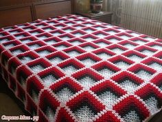 Crochet Square Blanket, Crochet Stitches For Blankets, Crochet Square Patterns, Baby Afghan Crochet, Crochet Blocks, Crochet Blanket Patterns, Knitting Patterns, Basket Weave Crochet Pattern, Crochet Bedspread Pattern