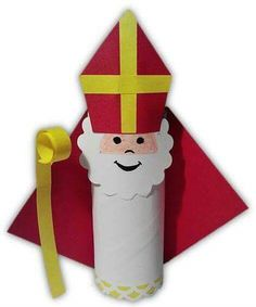 Risultati immagini per bricolage st nicolas Homemade Christmas Gifts, Christmas Crafts For Kids, Kids Christmas, Christmas Decorations, St Nicholas Day, Toilet Paper Roll Crafts, Diy Paper, Paper Craft, Theme Noel