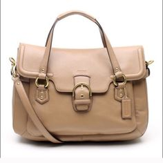 Brand new Coach Eva Satchel Schooler bag 15*11*4 brand new without tag and small minor acratch  Beautiful taupe leather Coach Bags Satchels