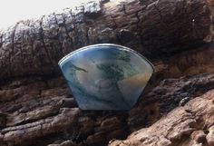 Agate Chalcedony Big Moon Cocktail Handmade Sterling Silver 92.5 Ring Size 8 #Handmade #Cocktail