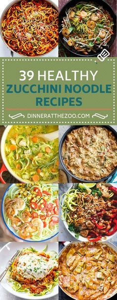 39 Healthy Zucchini Noodle Recipes (Zoodles)