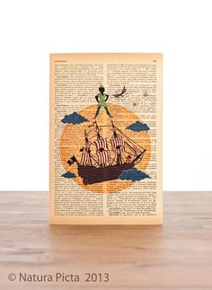 Peter Pan Neverland Greeting Card  4x6 inch on by naturapicta, $4.50