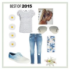 """""""<3"""" by velida-husic ❤ liked on Polyvore featuring Vince, Frame Denim, Keds, Ray-Ban, Sonix and Accessorize"""