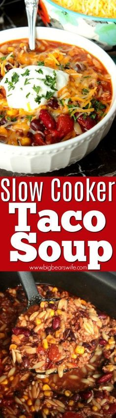A few easy to grab ingredients and a slow cooker are all you need to make this tasty Slow Cooker Taco Soup for dinner! Serve it as is or top with sour cream and cheese!!! #ad  #TeeterTreats #TeeterRecipes