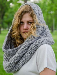 Knit Cowl Hood Bulky Made To Order