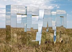 Fear Expanded Installation by Ryan Everson.actually like fear is, is there. Mathias Kiss, Blog Art, Instalation Art, Mirror Art, Mirrors, Wood Mirror, Mirror Letters, Mirror Ideas, Environmental Graphics