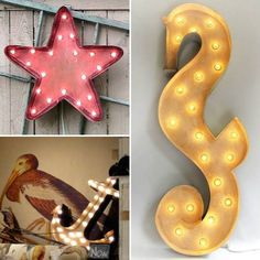 Marquee light signs with a sea theme. http://www.completely-coastal.com/2013/07/marquee-light-signs-letters-sea-beach.html