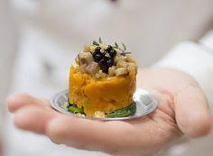 Denny Chef Blog: Tortino di zucca e spinaci con seitan marinato e perle di aceto balsamico