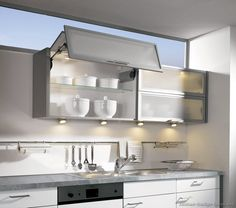 white aluminum kitchen cabinets | Pictures of Kitchens - Modern ...