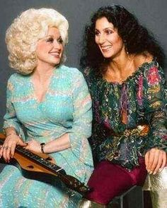 Dolly Parton and Cher. Two women I grew up adoring. Dolly Parton, Divas, Country Singers, Country Music, Thing 1, Hello Dolly, Star Wars, American Singers, Role Models