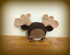 Image of Moose Hat Pattern (Beanie, Earflap and Chinstrap!)