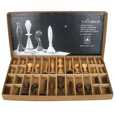 Arthur Elliot for ANRI Mod Mid Century Chess Set | From a unique collection of antique and modern games at https://www.1stdibs.com/furniture/more-furniture-collectibles/games/
