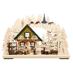 3D-Double-Arch - Erzgebirge Workshop (44x29x7cm/17x11x3in) by RATAGS authentic handcraft from the German Ore Mountains. Christmas decoration Made in Germany.